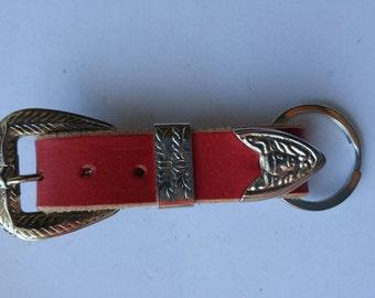 Belt style leather key fob