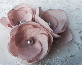 Blush Pink Bridal Flower Hair Clip, Blush Pink Wedding Hair Accessory, Blush Pink Bobby Pin