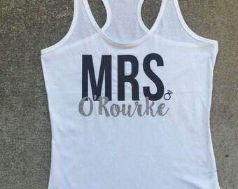 Personalized Mrs. Shirt