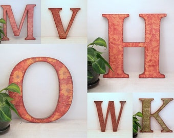 Rustic Wall Letter - Decorative Wood Wall Letter -  Made to Order - Rustic Letters for Gallery Wall - Wooden Initial Wall Letters