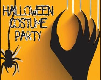 Black and Orange Halloween Invitation