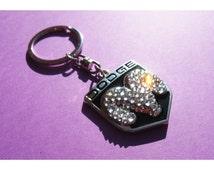 Bling Dodge emblem Dodge Keychain with Swarovski crystals sleutelhanger Dodge logo Dodge emblem Dodge key chain / key