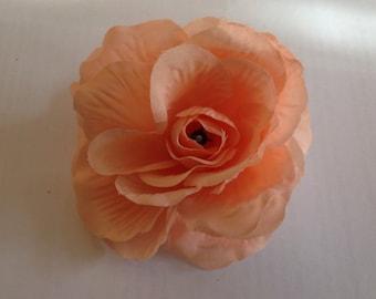 50 Apricot Silk Rose Heads - Silk Wedding Roses