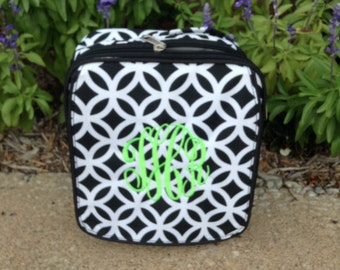 Monogram Lunch Tote ~ insulated lunch bag ~ Preppy Lunch Tote