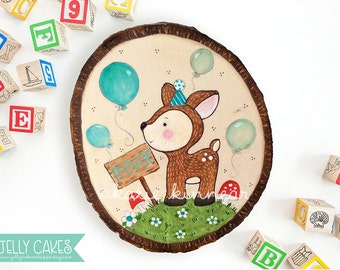 Nursery Wall Art,Woodland Wall Art,Woodland Baby Shower,Baby Boy,For Baby,Baby Shower Gift,Cute Deer,Birthday,Woodslice,Nursery Decor