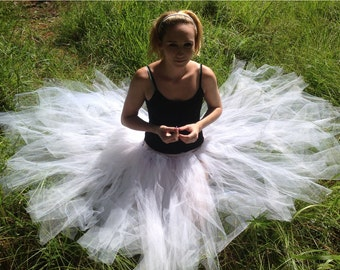 Custom Children and Adult Adjustable Tulle and Ribbon 3/4 Length Handmade Tutu