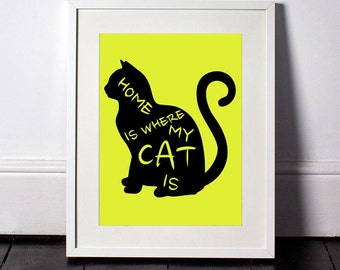 Home Is Where My Cat Is Print