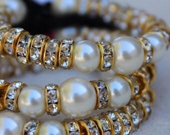 Dazzling Bracelets with tassels- bridemaid, little girls, adjustable