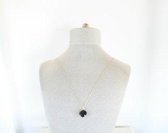 Black Onyx Gem Pendant Necklace