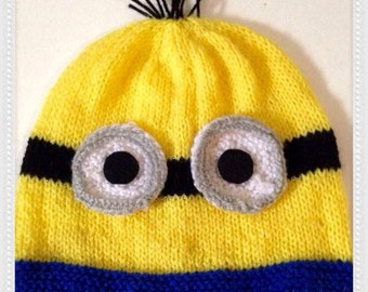 Knitting Pattern For Minion Jumper : Knit minion hat Etsy