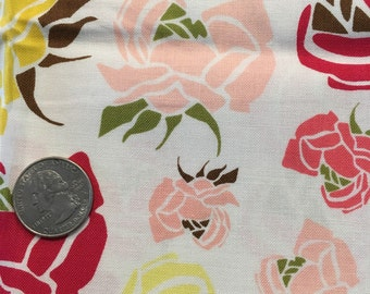 Floral fat quarter   Pink, yellow, white, green
