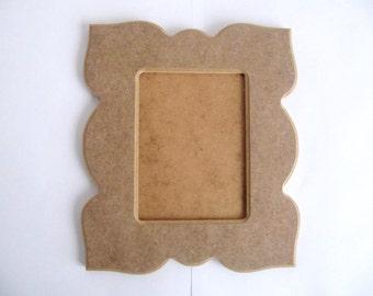 Unfinished Picture Curvy Frame 29cmx 25cm  1cm Thick MDF Wood Frame for DIY Wood Shapes Diy Kit