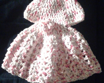 Preemie Cotton Summer Dress, Pink Gray N White, Crochet Baby Clothes, Preemie Photo Props, Preemie Clothes, Coming Home Outfit, Summer Dress