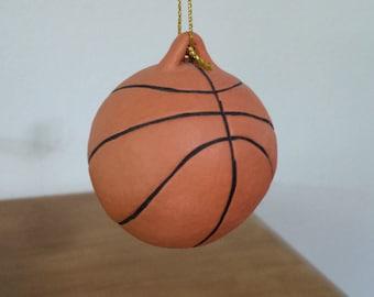 Ceramic Basket Ball Ornament (#510)