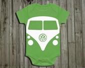 Christmas baby onesie. Volkswagen baby. Baby onesie funny. Hippy baby. Gypsy. Gender neutral baby shower gift. VW bus onsie
