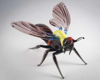 Glass Hand-Blown Glass Wasp Collectible Figurine