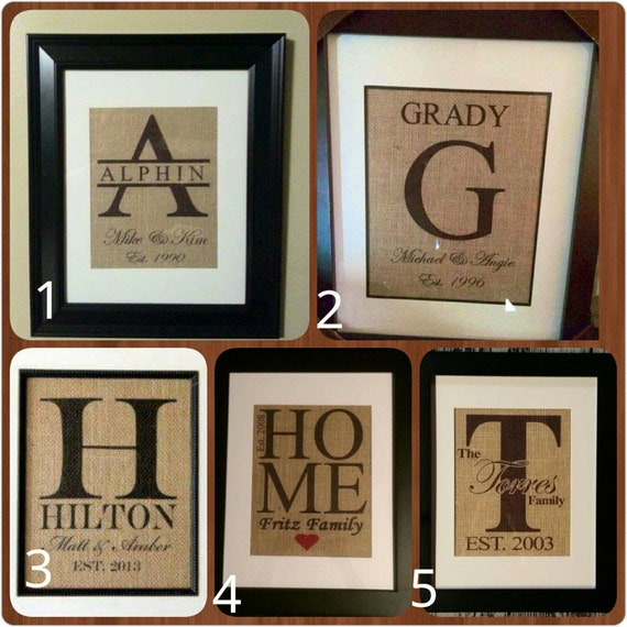 Burlap Wall Hanging *framed*