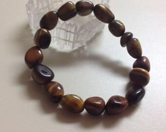 HEALING, Reiki, Meditation, Spiritual Jewelry, Tiger Eye Nugget Bracelet