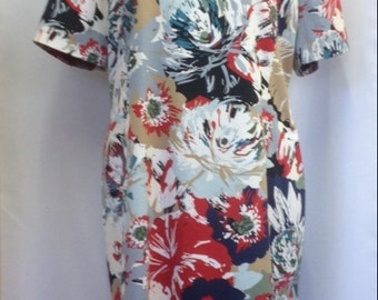 Flowery shift dress UK size 18