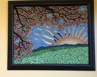 Sun rise sequel mosaic art