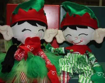 Elf Doll - Christmas Elf Doll - Choose boy, girl, or both!
