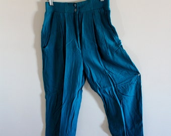 Vintage teal high waisted pants!