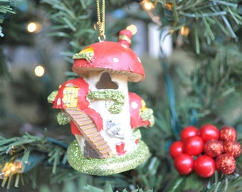 Two Story Fairy House Ornament