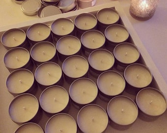 100% Soy Candle Tin, Travel Candle, Choose Your Scent, 25 Hour Burn Time, New Scents Added