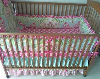 Kumari garden pink and blue baby bed set