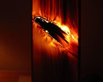 Timberlight #19, all natural warm ambiance lamp