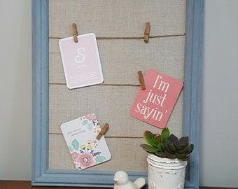 Message board, bulletin board, fabric memo board, framed memo board, framed message board