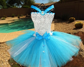 Frozen Elsa Inspired Tutu Dress, Birthday  Elsa Tutu Costume