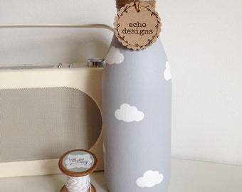 Personalised hand painted extra large milk bottle