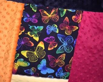 Personalized Rainbow Butterflies Blanket
