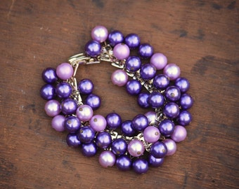 Vintage Japan purple cha cha bracelet