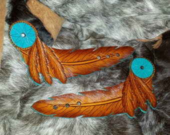 Spur Straps leather feather