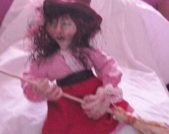 Ruby handmade Witch