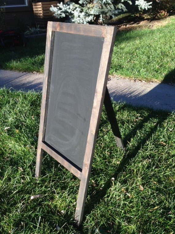 rustic chalkboard easel sandwich board one sided a frame. Black Bedroom Furniture Sets. Home Design Ideas