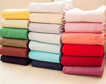 Solid color linen fabric Etsy