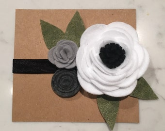Felt 3 Flower Headband