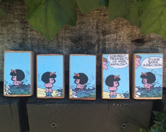 magnets wood, Mafalda3