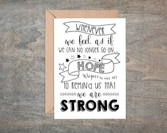 hope card, mental health card, motivational card, hard times, in sympathy card, baby loss card, miscarriage card, motivational quote