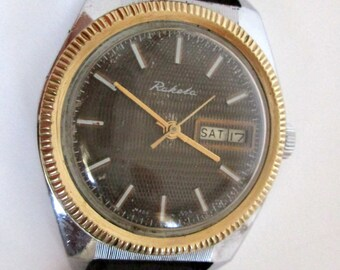 Mens Wrist Watch Raketa 2826 H. Russian Watch RAKETA. USSR Soviet Watch. Mechanical Watch RAKETA