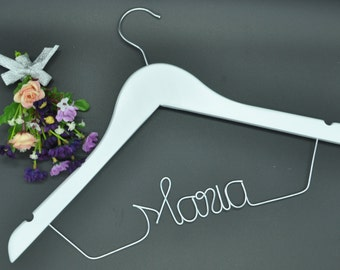 Promotions Custom name hanger,Unique wedding personalized name hanger,Wedding dress hanger, Bridal hanger,Bridesmaids gift, Wire name hanger