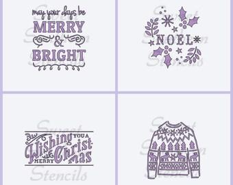 Christmas Stencils (4 separate stencils)