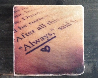Always Harry Potter Text Coaster or Decor Accent