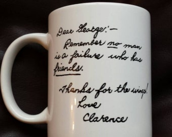 Hand Painted mug inspired by It's a Wonderful Life.