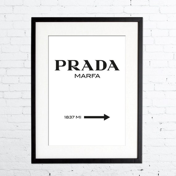 prada logo print fashion print in black white by printdeluxe. Black Bedroom Furniture Sets. Home Design Ideas