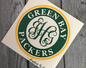 Green Bay Packers Decal - Monogrammed Decal - Green Bay Packers - Sticker