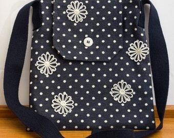 Fabric Messenger Cross Body Bag
